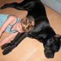 Спим вместе с собакой